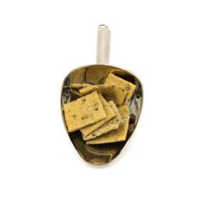 Nerezová lopatka se špačkovými kroky s dýňovým semínkem a česnkemem v BIO kvalitě.