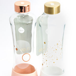 Equa Squeeze skleněná znovupoužitelná láhev se vzorem na pití